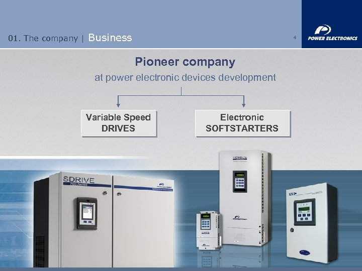 01. The company | Business 4 Pioneer company at power electronic devices development Variable