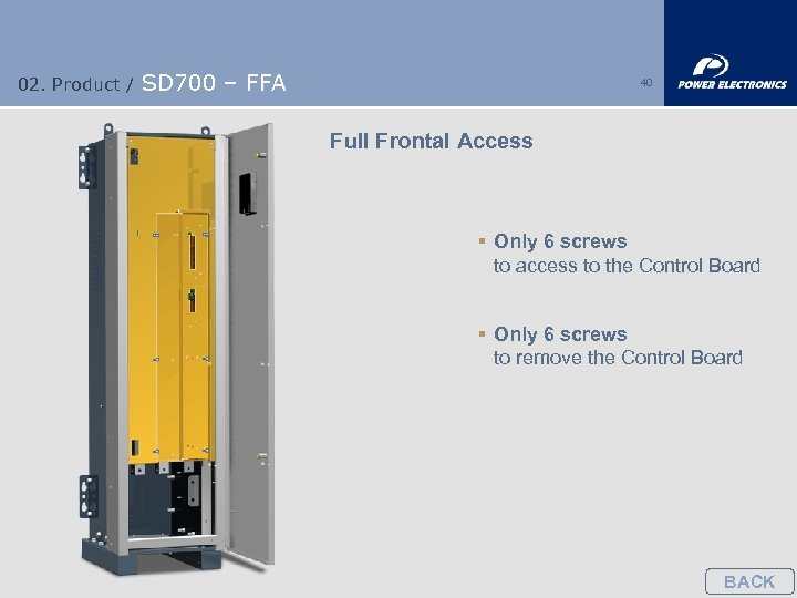 02. Product / SD 700 – FFA 40 Full Frontal Access § Only 6