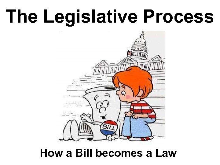 The Legislative Process How a Bill becomes a Law