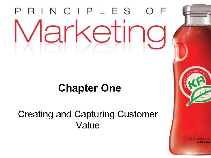 Chapter One Creating and Capturing Customer Value Copyright © 2009 Pearson Education, Inc. Publishing