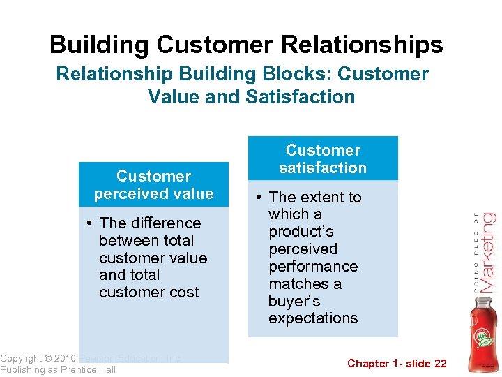 Building Customer Relationships Relationship Building Blocks: Customer Value and Satisfaction Customer perceived value •