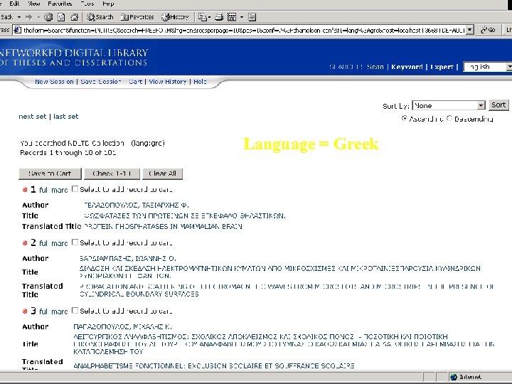 Language = Greek