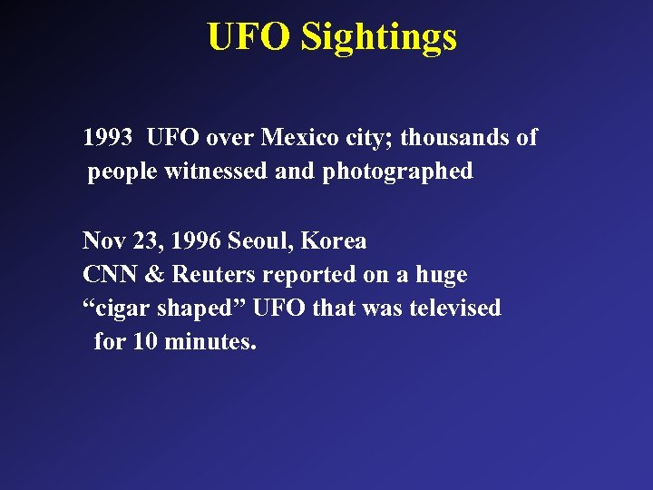 UFO Sightings 1993 UFO over Mexico city; thousands of people witnessed and photographed Nov
