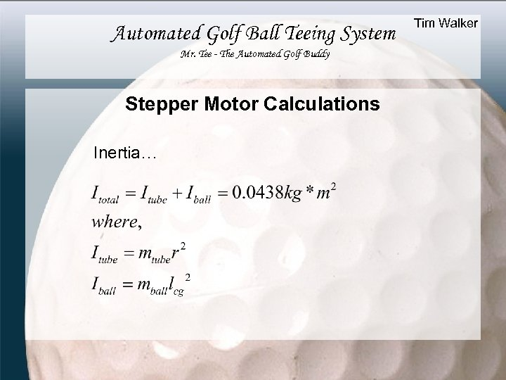 Automated Golf Ball Teeing System Mr. Tee - The Automated Golf Buddy Stepper Motor