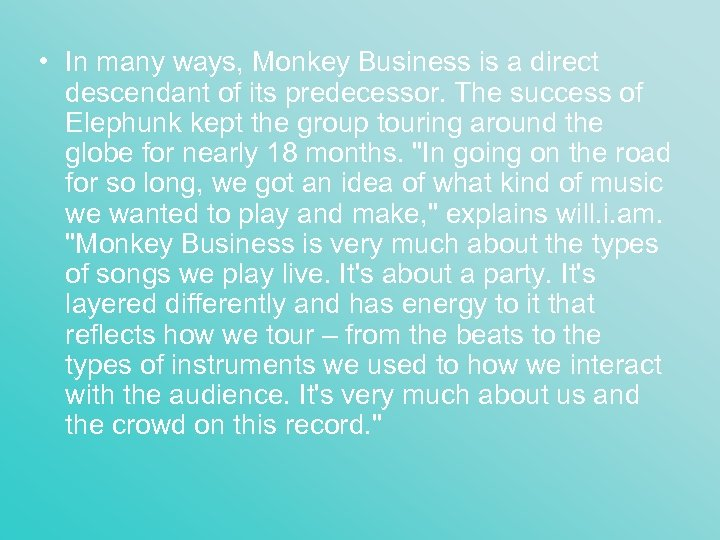 • In many ways, Monkey Business is a direct descendant of its predecessor.