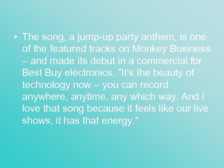 • The song, a jump-up party anthem, is one of the featured tracks