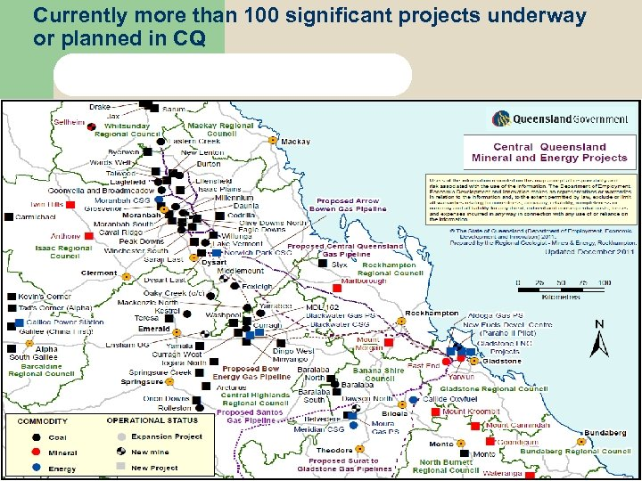 Currently more than 100 significant projects underway or planned in CQ