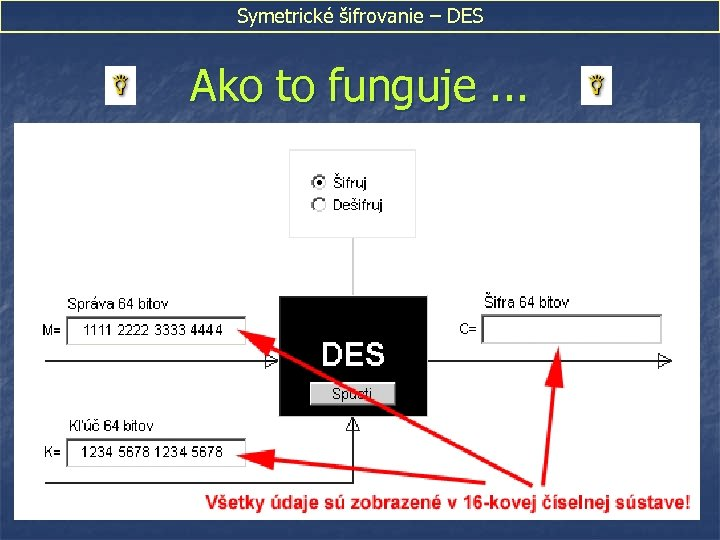 Symetrické šifrovanie – DES Ako to funguje. . .