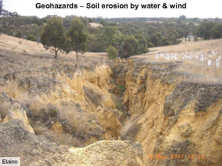Geohazards – Soil erosion by water & wind Elaine