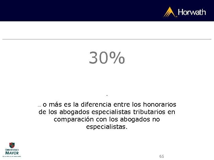30%. o más es la diferencia entre los honorarios de los abogados especialistas tributarios