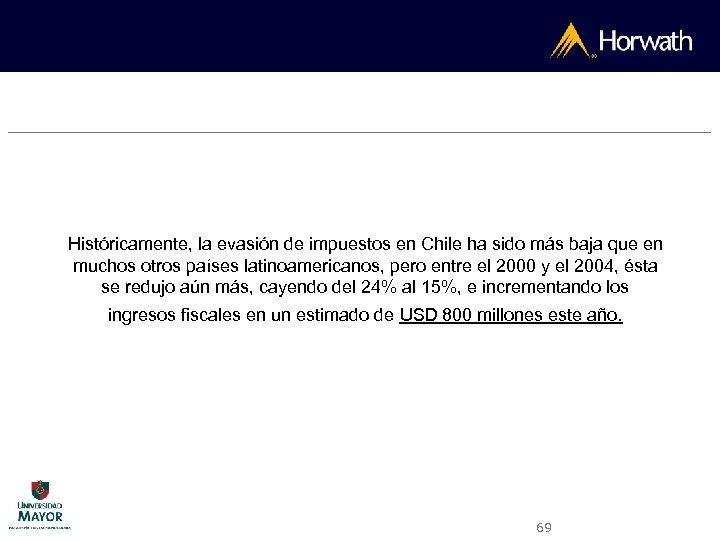 Históricamente, la evasión de impuestos en Chile ha sido más baja que en muchos