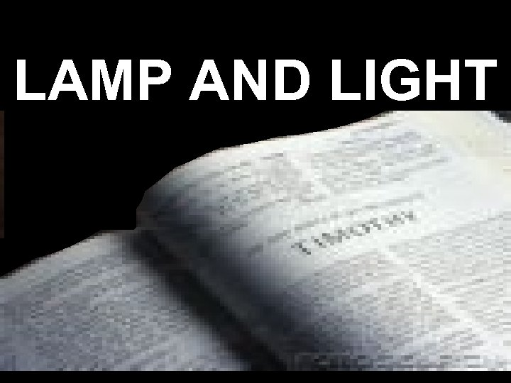 LAMP AND LIGHT