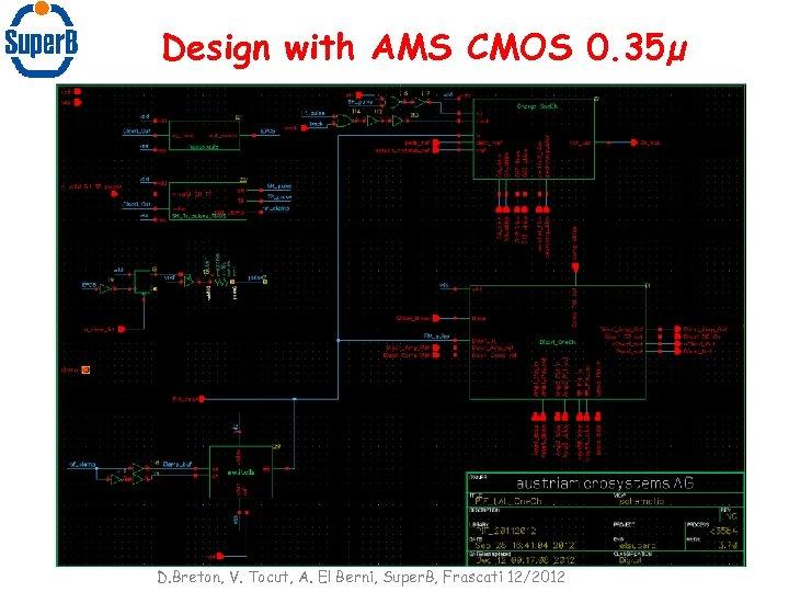 Design with AMS CMOS 0. 35µ D. Breton, V. Tocut, A. El Berni, Super.
