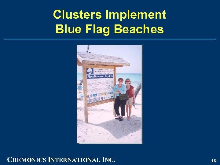Clusters Implement Blue Flag Beaches CHEMONICS INTERNATIONAL INC. 16