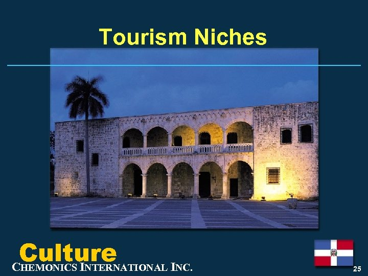 Tourism Niches Culture CHEMONICS INTERNATIONAL INC. 25