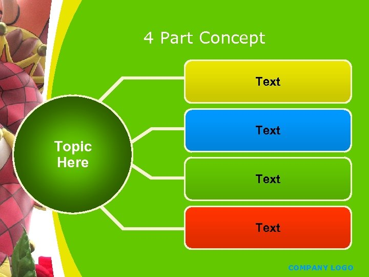 4 Part Concept Text Topic Here Text COMPANY LOGO