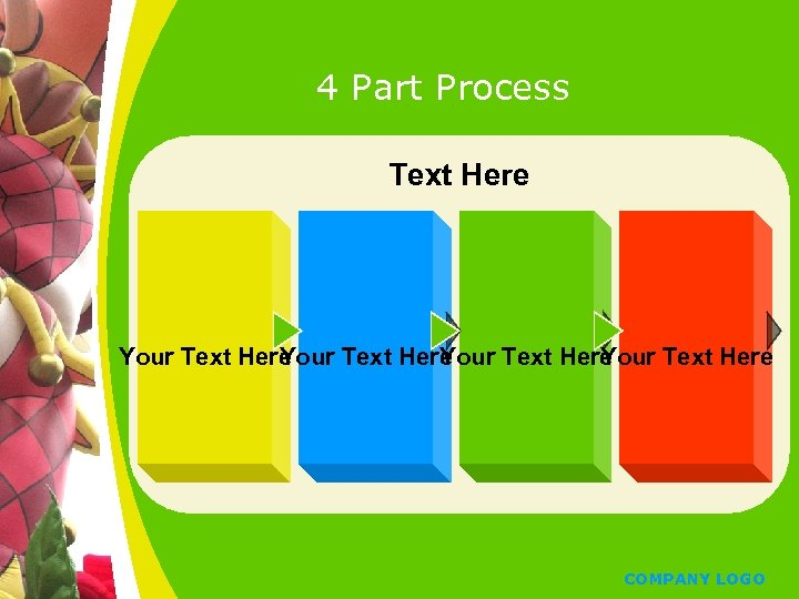 4 Part Process Text Here Your Text Here Y Y Y COMPANY LOGO