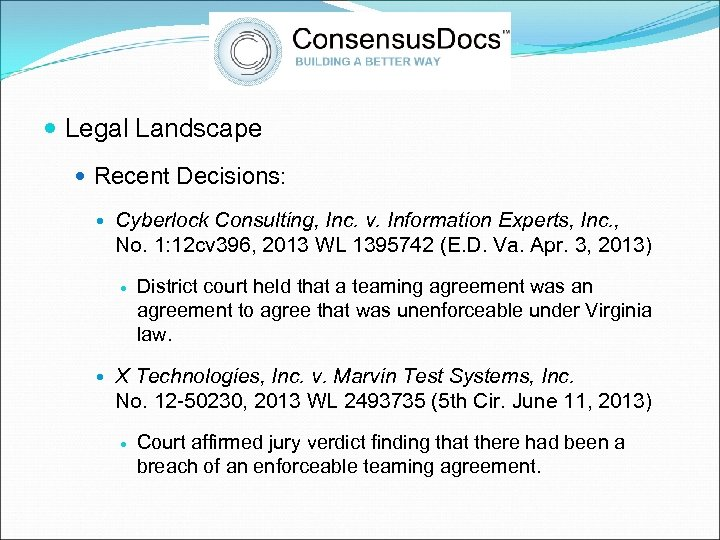 Legal Landscape Recent Decisions: Cyberlock Consulting, Inc. v. Information Experts, Inc. , No.