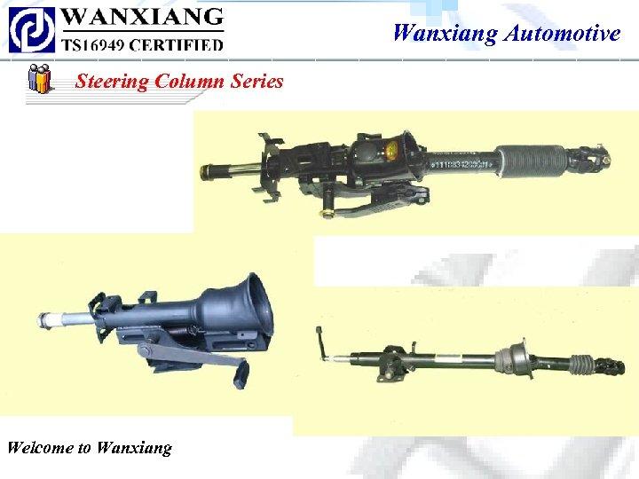 Wanxiang Automotive Steering Column Series Welcome to Wanxiang