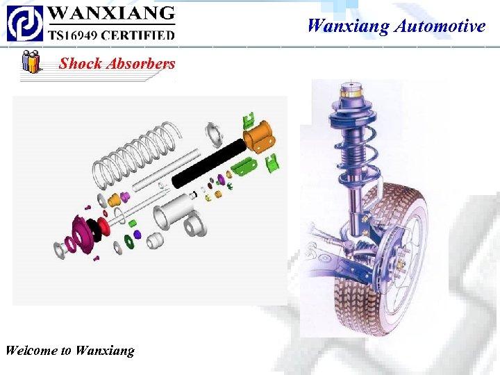 Wanxiang Automotive Shock Absorbers Welcome to Wanxiang