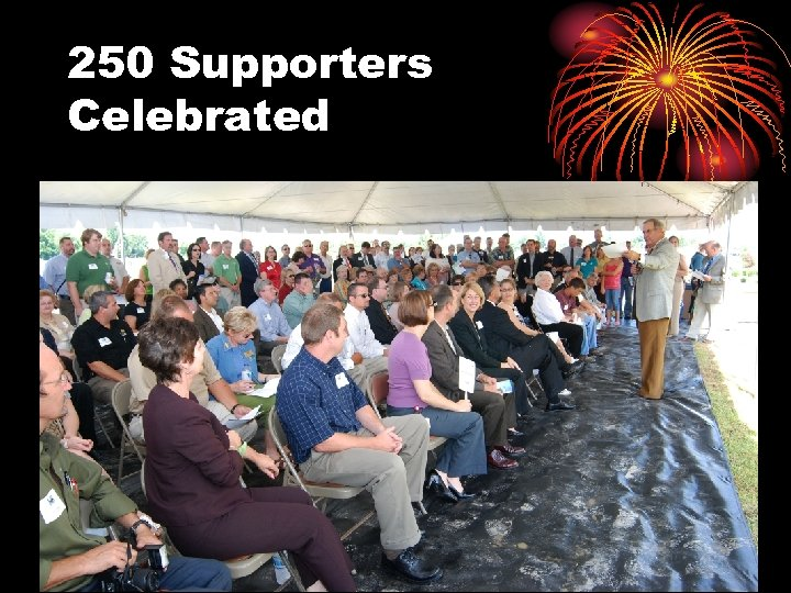 250 Supporters Celebrated