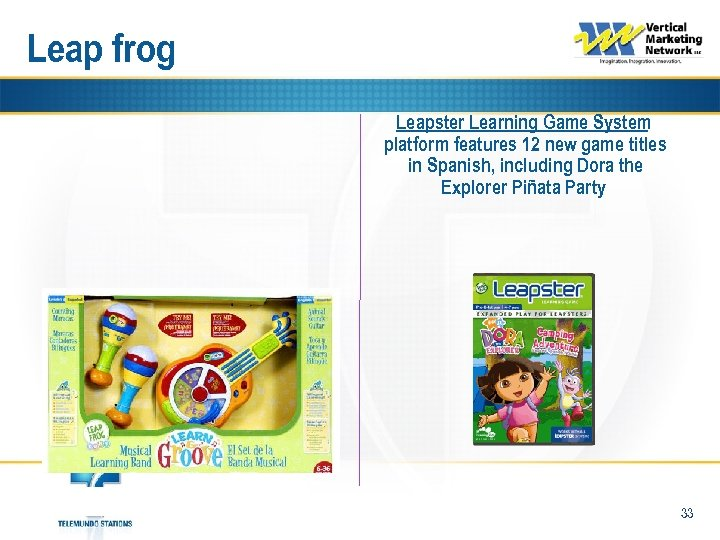 Leap frog Leapster Learning Game System platform features 12 new game titles in Spanish,