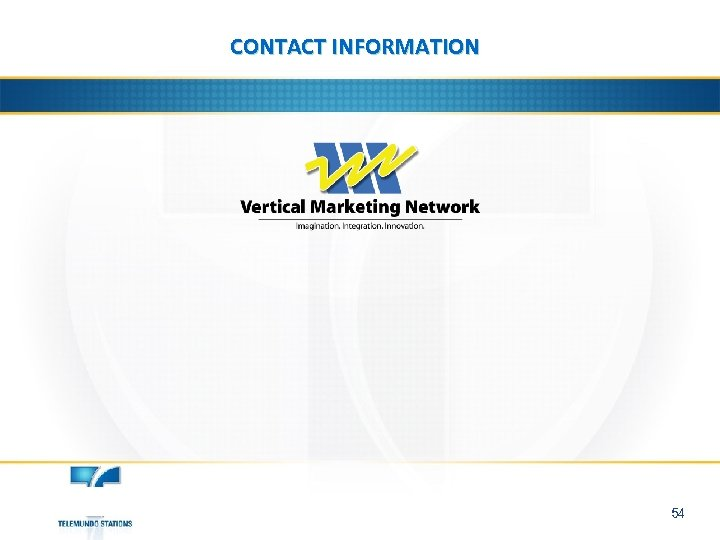 CONTACT INFORMATION 54