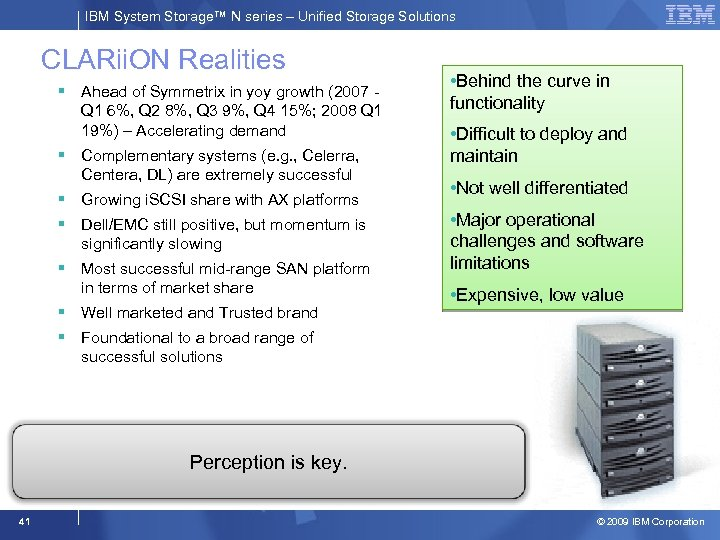 IBM System Storage™ N series – Unified Storage Solutions CLARii. ON Realities § Ahead
