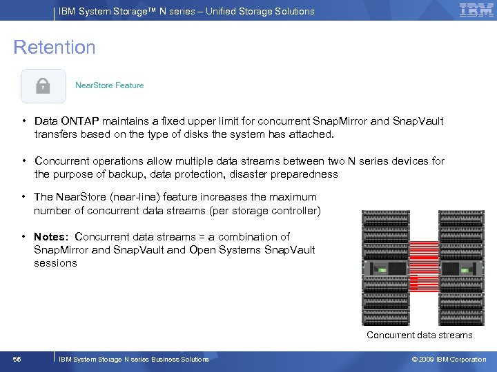 IBM System Storage™ N series – Unified Storage Solutions Retention Near. Store Feature •