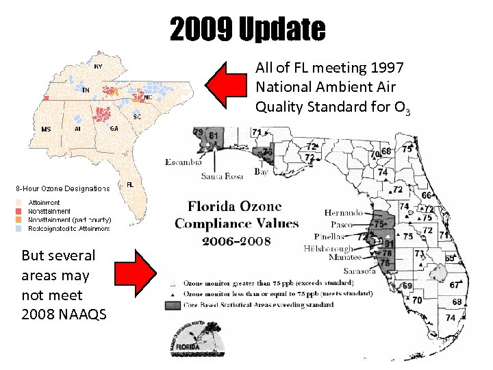 2009 Update All of FL meeting 1997 National Ambient Air Quality Standard for O