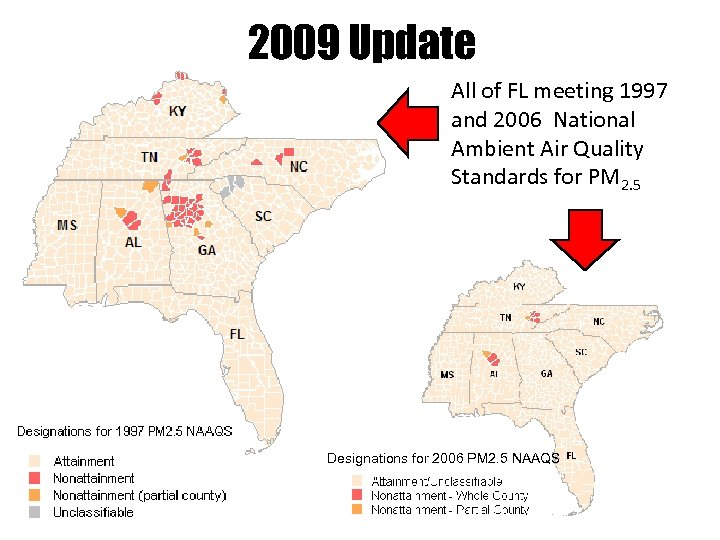 2009 Update All of FL meeting 1997 and 2006 National Ambient Air Quality Standards