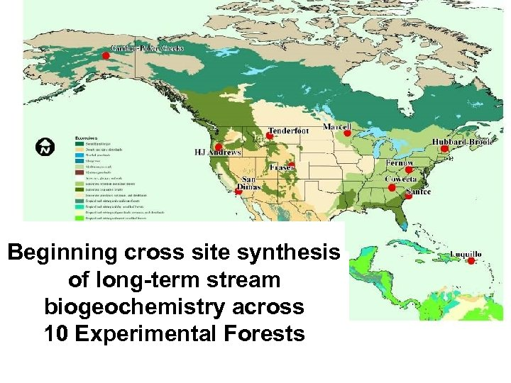 Beginning cross site synthesis of long-term stream biogeochemistry across 10 Experimental Forests