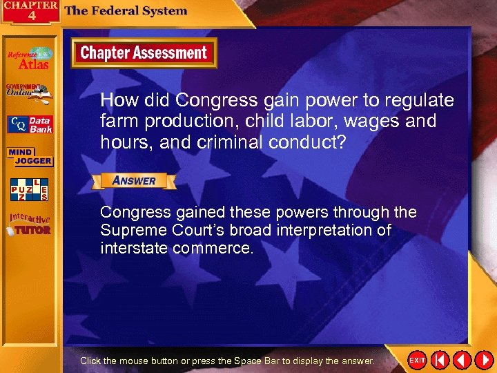 How did Congress gain power to regulate farm production, child labor, wages and hours,