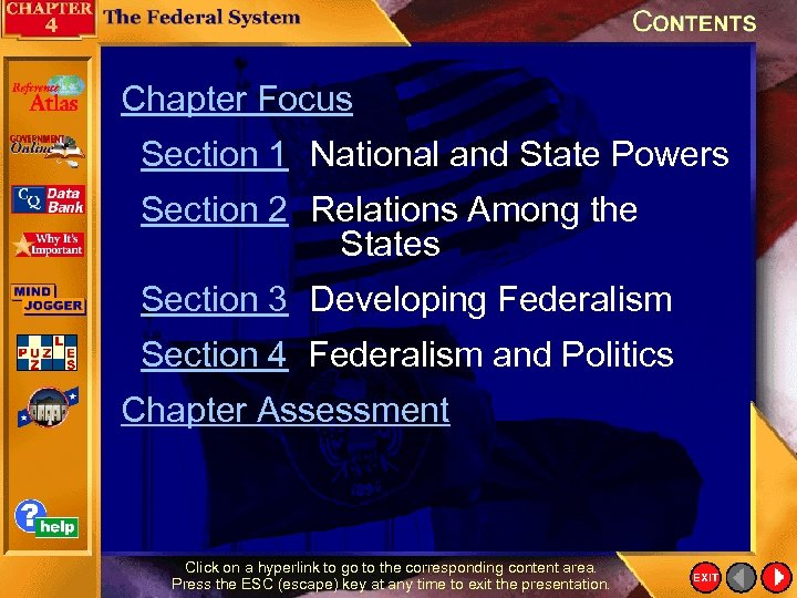Chapter Focus Section 1 National and State Powers Section 2 Relations Among the States