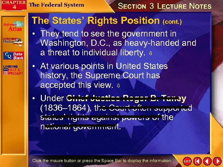 The States' Rights Position (cont. ) • They tend to see the government in