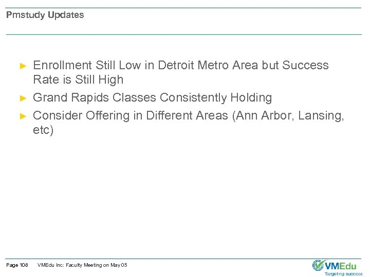 Pmstudy Updates ► ► ► Page 108 Enrollment Still Low in Detroit Metro Area