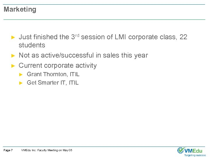 Marketing ► ► ► Just finished the 3 rd session of LMI corporate class,