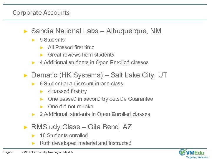 Corporate Accounts ► Sandia National Labs – Albuquerque, NM ► ► ► Dematic (HK