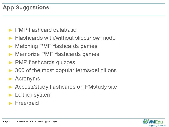 App Suggestions ► ► ► ► ► Page 9 PMP flashcard database Flashcards with/without