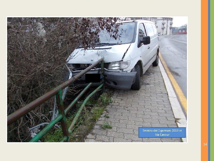 Sinistro del 2 gennaio 2013 in Via Cavour 14