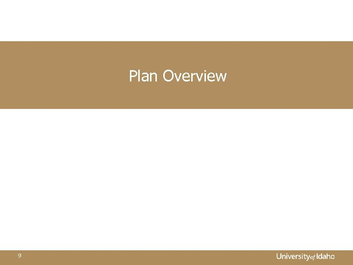 Plan Overview 9