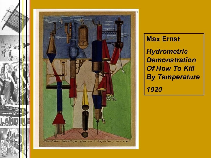 Max Ernst Hydrometric Demonstration Of How To Kill By Temperature 1920