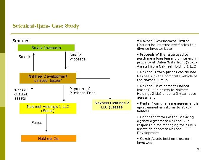 Sukuk al-Ijara- Case Study • Nakheel Development Limited Structure (Issuer) issues trust certificates to