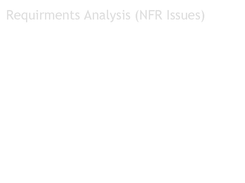 Requirments Analysis (NFR Issues) ONR 8 Issue 1: Popularity of web browsers? Option 1: