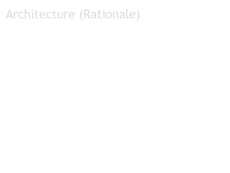 Architecture (Rationale)