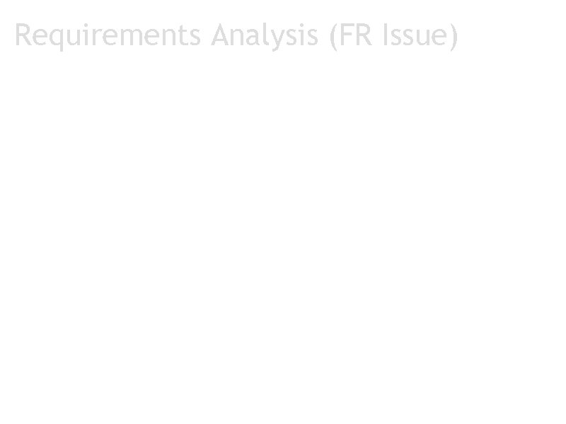 Requirements Analysis (FR Issue) OFR 2 Issue 1: The mode of interaction btw KWIC