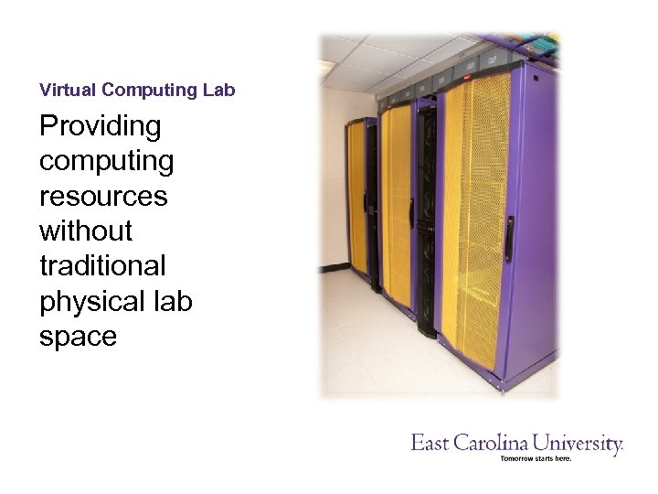 Virtual Computing Lab Providing computing resources without traditional physical lab space