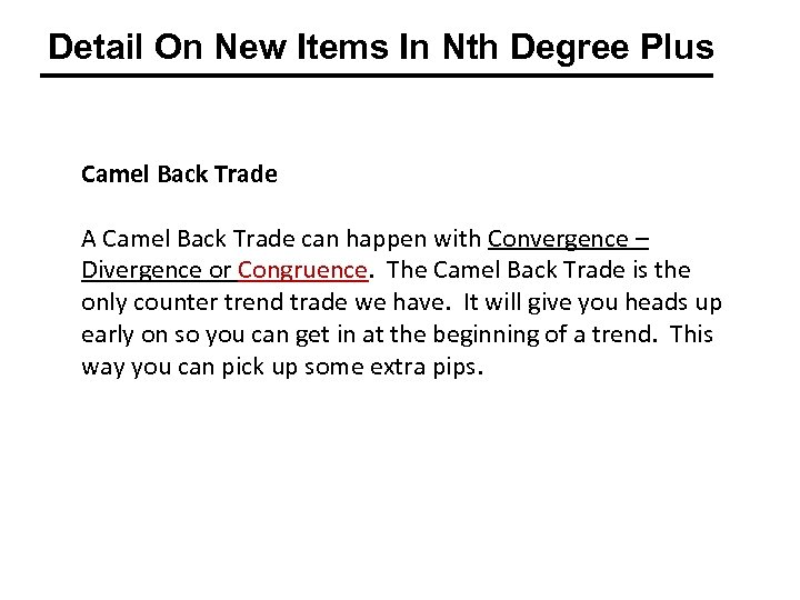 Detail On New Items In Nth Degree Plus Camel Back Trade A Camel Back