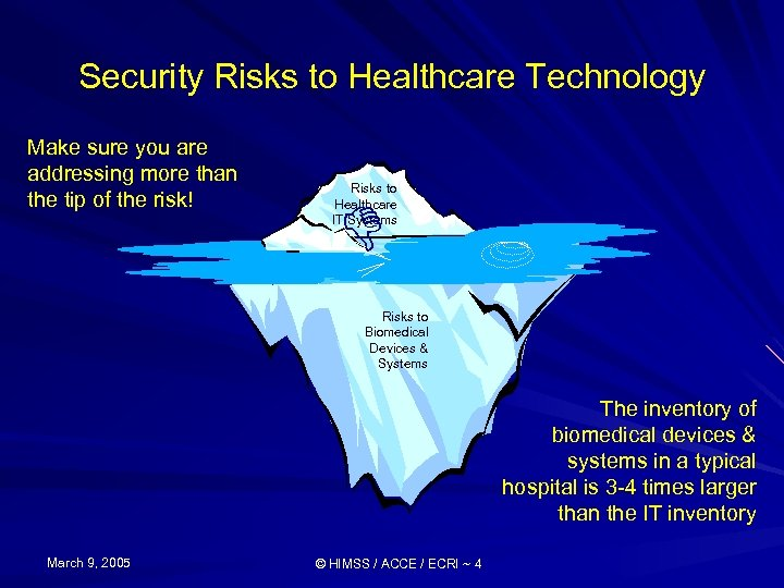 Security Risks to Healthcare Technology Make sure you are addressing more than the tip