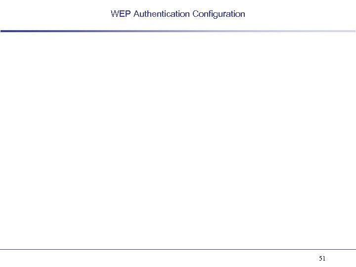 WEP Authentication Configuration 51
